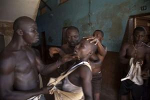 Niños africanos en prisiones