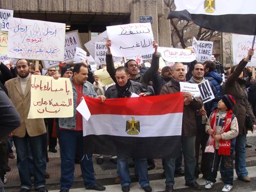 Egipto se manifiesta también en Madrid