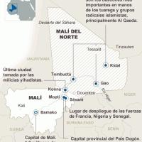 Comienza la intervención francesa en Mali