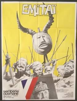 Cartel de la película 'Emitai', de Ousmane Sembène. En ella se cuenta la rebelión de un grupo de mujeres contra los soldados franceses que les exigen buena parte de su cosecha mientras sus maridos e hijos luchan por Francia en la Segunda Guerra Mundial.