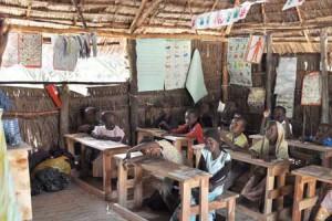Una de las escuelas con las que Afrikable colabora en la isla de Lamu (Kenya)