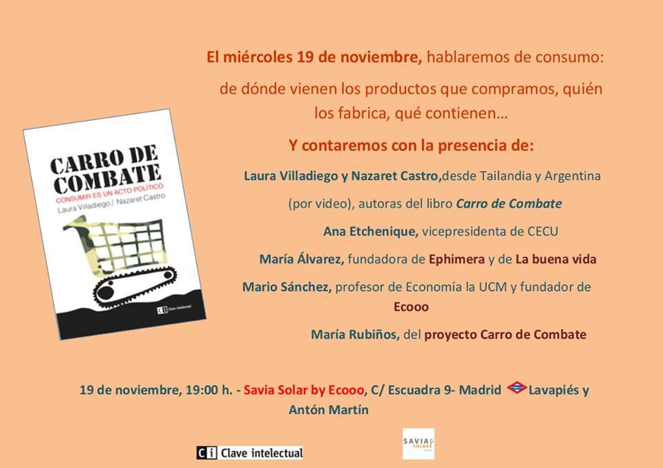 Presentación libro Carro de Combate en Savia Solar, Madrid.