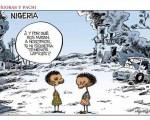 Terrorismo en Nigeria. Viñeta de Idígoras y Pachi