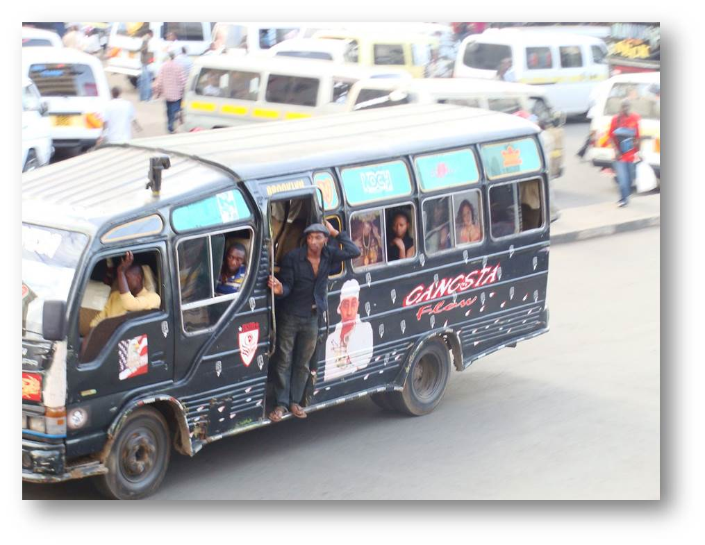 Plano de matatus en Nairobi: mapeando 'el caos'