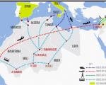 Ante el cierre de fronteras de los países orientales de la Unión Europea, algunos sirios intentan acceder a España o Italia a través del Magreb. Mapa: Irin News