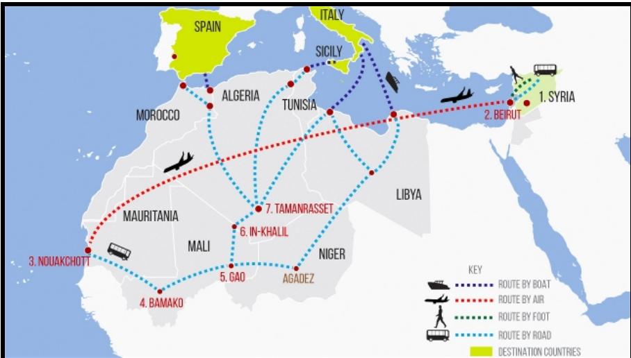La nueva ruta migratoria de los sirios pasa por el Magreb