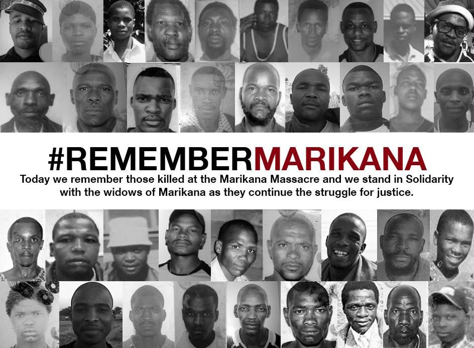 Miners shot down: en recuerdo de las víctimas de Marikana