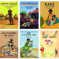 Libros de la editorial Ruisseaux d' Afrique, que dirige Beatrice Laninon en Benín.