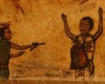 Los días de violencia están presentes en algunos dibujos que todavía hoy se pueden ver en las paredes de República Centroafricana.