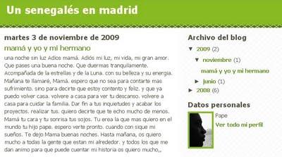 Un senegalés en Madrid