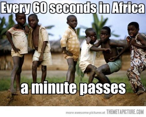 Cada 60 segundos, en África...