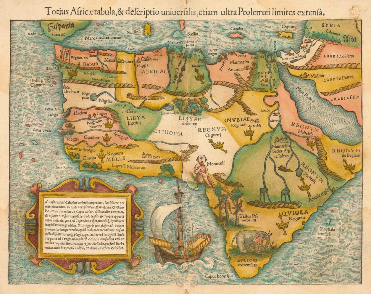 El primer mapa de África