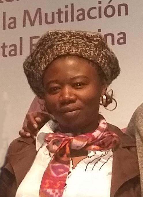 Jolly Kamuntu, periodista y activista por los derechos de la mujeres.