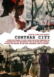 Cartel de la película Contras City, de Djibril Diop Mambéty.