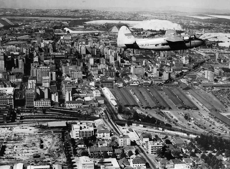 Imagen de Johannesburgo a finales de los años 40.